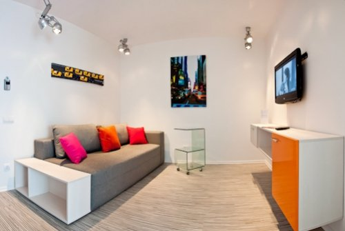 Rent lux 1 bedroom apartment in Kiev at Baseina 19 modern