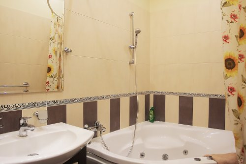 Rent VIP 1 bedroom apartment in Kiev at Baseina 5a hot tub