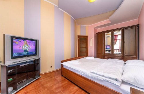 Rent 1 bedroom lux apartment in Kiev at Hrinchenka 2 with view