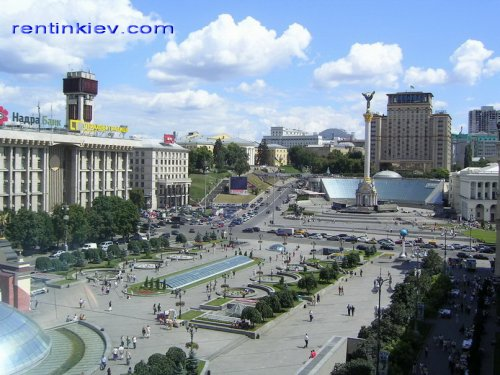 Rent 1 bedroom lux apartment in Kiev at Maidan near McDonald's with view