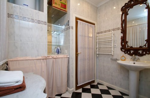 Rent 1 bedroom lux apartment in Kiev at Hrinchenka 4 with design