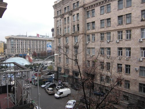 Rent 1 bedroom lux apartment in Kiev at Maidan with view