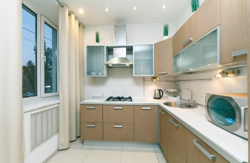 Rent luxurious 1 bedroom apartment in Kyiv Lesi Ukrainky 6 modern kitchen