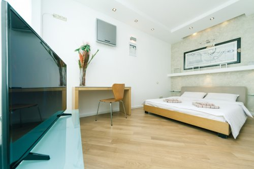 Rent lux 1 bedroom apartment in Kiev with design on main street