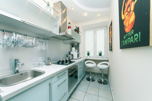 Rent lux 1 bedroom apartment in Kiev with design and view