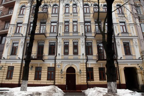 Rent studio lux apartment in Kiev Tolstoho 41 new house