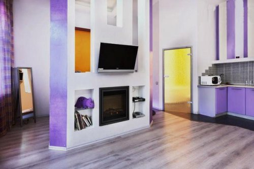 Rent luxury studio apartment in Kiev at Saksahanskoho 33